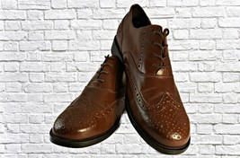 Dexter Comfort Brown Leather Wingtip Lace Up Oxford Shoes Size 9.5M - $49.06