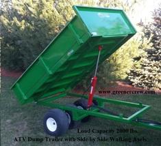 Electric Over Hydraulic Lift ATV Dump Trailer 2000 lbs Load Capacity  - $3,925.00