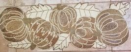 NWOT Thanksgiving Hand Beaded Table Runner Gold Pumpkins Autumn Harvest ... - $89.99