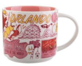Starbucks 2018 Orlando, Florida Been There Collection Coffee Mug NEW IN BOX - $28.28