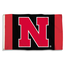 """Nebraska Huskers """"Red and Black"""" 3'x5' Flag with Grommets  - $35.95"""