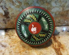 VINTAGE Jamaican Pottery Jar - Vanity - Pill case RARE Jamaica - $12.59
