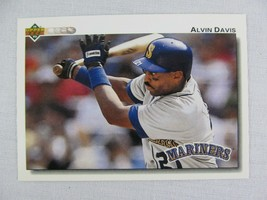 Alvin Davis Seattle Mariners 1992 Upper Deck Baseball Card 386 - $0.98