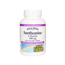 Natural Factors Stress-Relax Suntheanine L-Theanine, 60 Chewable Tablets - $18.17