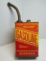 Vintage STANCAN  Metal One Gallon GASOLINE CAN w/Metal Spout  - $29.69