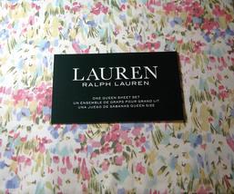 Ralph Lauren Pastel Impressionist Watercolor Floral Sheet Set  Queen - $90.00