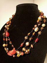 Unique 3 Strand Treasure Necklace w/ Pearls Stones Murano Glass and MUCH MORE! image 4