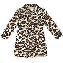 Gymboree Girls Trench Coat M 7 8 Ready Dress Go Leopard Print Belted Lon... - $24.49