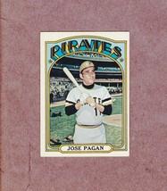 1972 Topps high # 701 Jose Pagan Pittsburgh Pirates Nice Card - $4.99