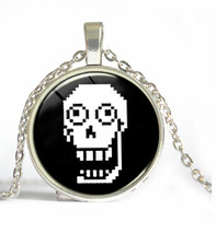 UNDERTALE (8-BIT) FACE CABOCHON NECKLACE   (8595)   >> C/S & H AVAILABLE  - $2.48