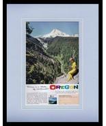 1964 Oregon Travel Tourism Framed 11x14 ORIGINAL Vintage Advertisement  - $41.71