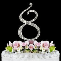 Rhinestone Cake Topper Number 8 by other - $11.25