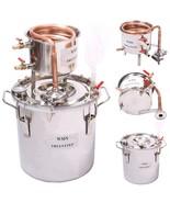 DIY 2 Gal 10 Liters Copper Alcohol Moonshine Stills Ethanol Still Spirit... - $250.29+