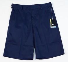Nike Golf Tour Performance Dri Fit Blue Flat Front Golf Short Mens NWT - $52.49