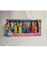 2017 Disney Princess Sparkling Styles Set of 7 Dolls NEW SEALED  - $93.14