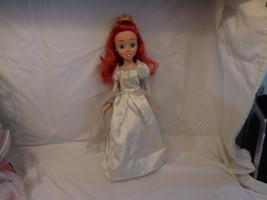 Disney Ariel The Little Mermaid Wedding Dress Princess Doll   2006 RARE ... - $19.02