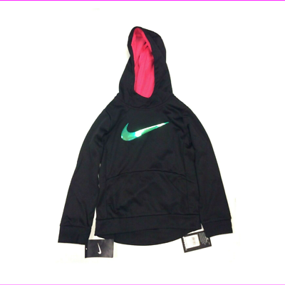 Primary image for NIke Therma 36D705 Dri-Fit Girls Black Hoodie Size 6X (L)