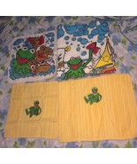VTG LOT 4 Muppets Kermit Fozzie Towels Hand Dish Bathroom Beach Henson 8... - $28.45