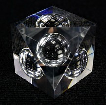 Steuben Glass Paperweight Floating Spheres - $237.50