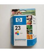 Genuine HP 23 Ink Cartridge Tri-Color 30 ml Best Install Date Aug. 2007 ... - $20.75
