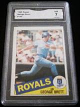 1985 Topps George Brett GMA Graded 7 NM Baseball Card Number 100 - $6.99