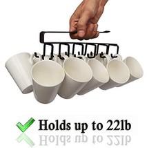 12-Hook Iron Under Cabinet Mug Hanger Brown image 1