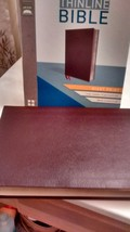 NIV GIANT PRINT THINLINE BIBLE BURGUNDY BONDED LEATHER 2011 13 POINT RED... - $25.75