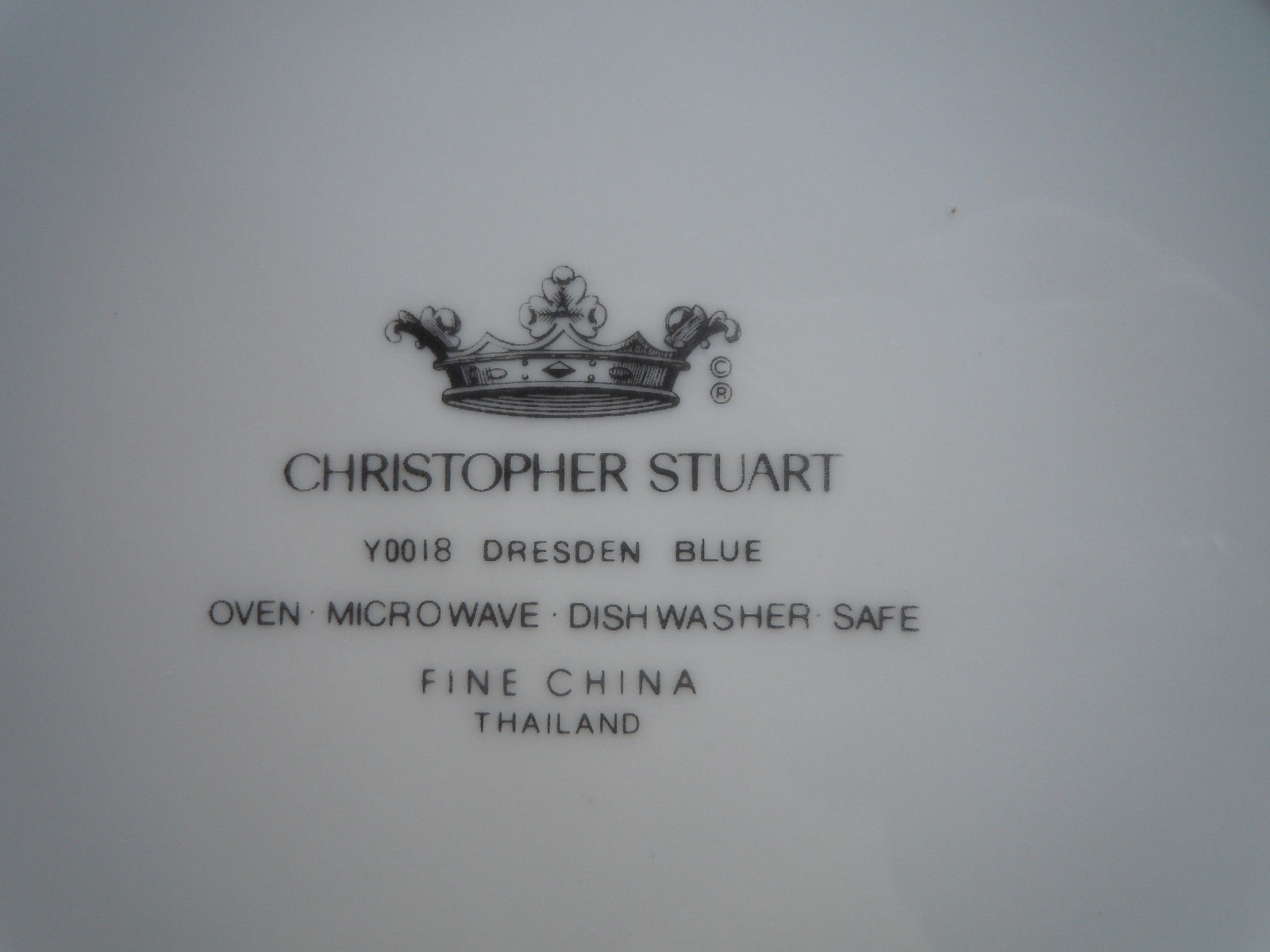 Christopher Stuart Dresden Blue Dinner Plate image 2