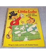 Little Golden Book Little Lulu and her Magic Tricks Kleenex 203 1954 A ... - $19.95