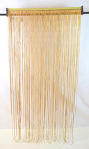 Vintage 60s Retro Hanging Rope Beads Room Divider Folding Curtain Home D... - $113.84