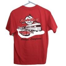 Rock & Roll Diner Red MEDIUM Graphic 2 Sided T-Shirt Oceano California C... - $14.81