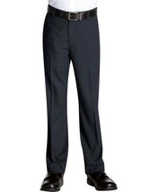 Kids Boys Junior Toddler Flat Front Slim Fit Dress Pants Slacks With Belt