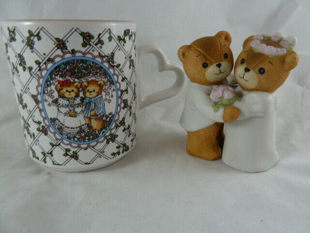 Primary image for Lucy and & Me Riggs Vintage 1980 Bride & Groom Figurine and 1986 Mug Enesco