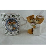 Lucy and & Me Riggs Vintage 1980 Bride & Groom Figurine and 1986 Mug Enesco - $14.84