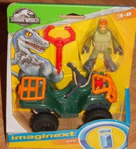 Fisher Price Imaginext Jurassic Park World Dr Alan Gant 4 x 4 Jeep Vehicle New - $7.99