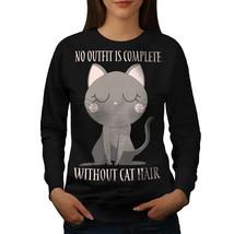 Without Cat Hair Jumper Animal Women Sweatshirt - $18.99