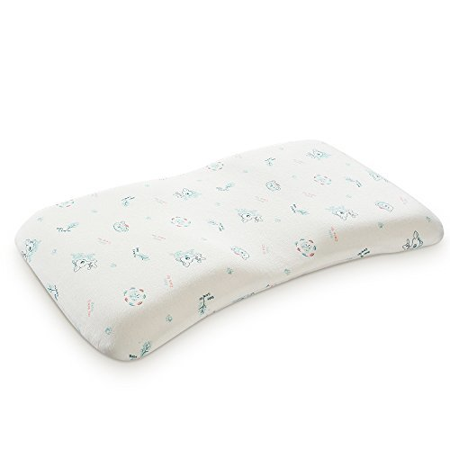 Baby Pillow Anti Flat Head,Mkicesky Memory Foam Infant Pillow for 0-2T Baby Girl