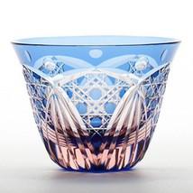 Edo Kiriko Guinommi Ochoko Japanese glass Sake cup  Hakkaku Kagome Made ... - $120.27