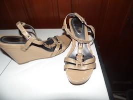 Women's Alfani Step n Flex Tan Wedge Heel Sandals Sz 7.5 - $10.30