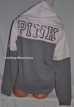 Victoria's Secret PINK Bling Gray Sweatshirt Crossneck Pullover Hoodie S... - $84.99