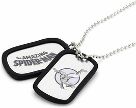 Dog Tag Jewel M Marvel Comics Spider-Man Double Dog Tag Men's Pendant Necklace - $12.49