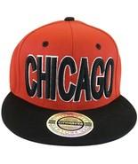 City Hunter Chicago Men's Bold Script Adjustable Snapback Baseball Cap R... - $9.95