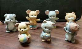 Set of 7 Avon Collectible Animal Figurines Mice - Dog - Cat - Squirrel - $13.85