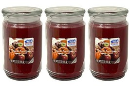Mainstays 20oz Apple Pumpkin Scented Candles, 3-Pack - $44.05