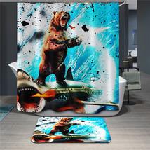 Fabric Animals leopard Shower Curtain Home Bathroom Curtains 3d elephant bear pe image 3