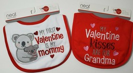 Neat Solutions Baby Bibs My First Valentine is My Mommy, Kisses Are For ... - $9.89