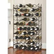 Black Metal Wine Rack 60 Bottle Holder Kitchen Storage Decor Cellar Orga... - $93.95