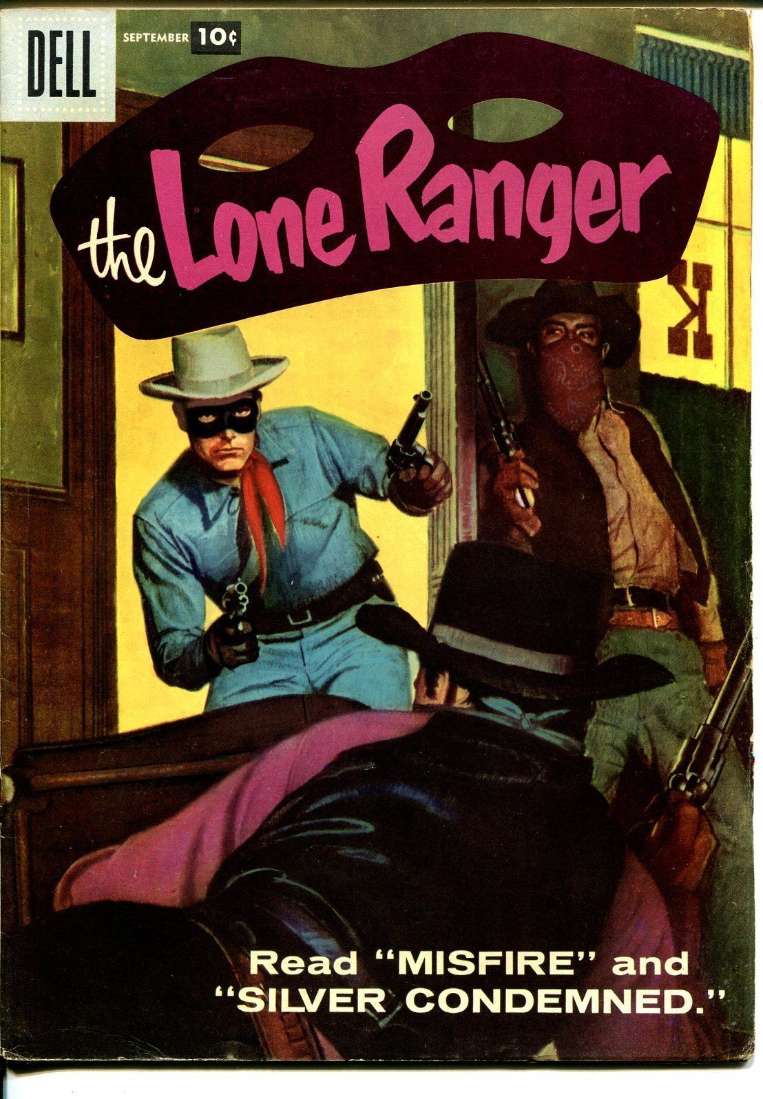 Lone Ranger #111 1957-Dell-last painted cover-FN/VF