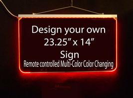 "Custom LED Sign, LED Acrylic 23.25"" x 14"", Design your own sign image 6"