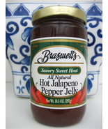 BRASWELL'S Braswells Hot Jalapeno Pepper Jelly 10.5 oz, EXP 2022 - $5.44